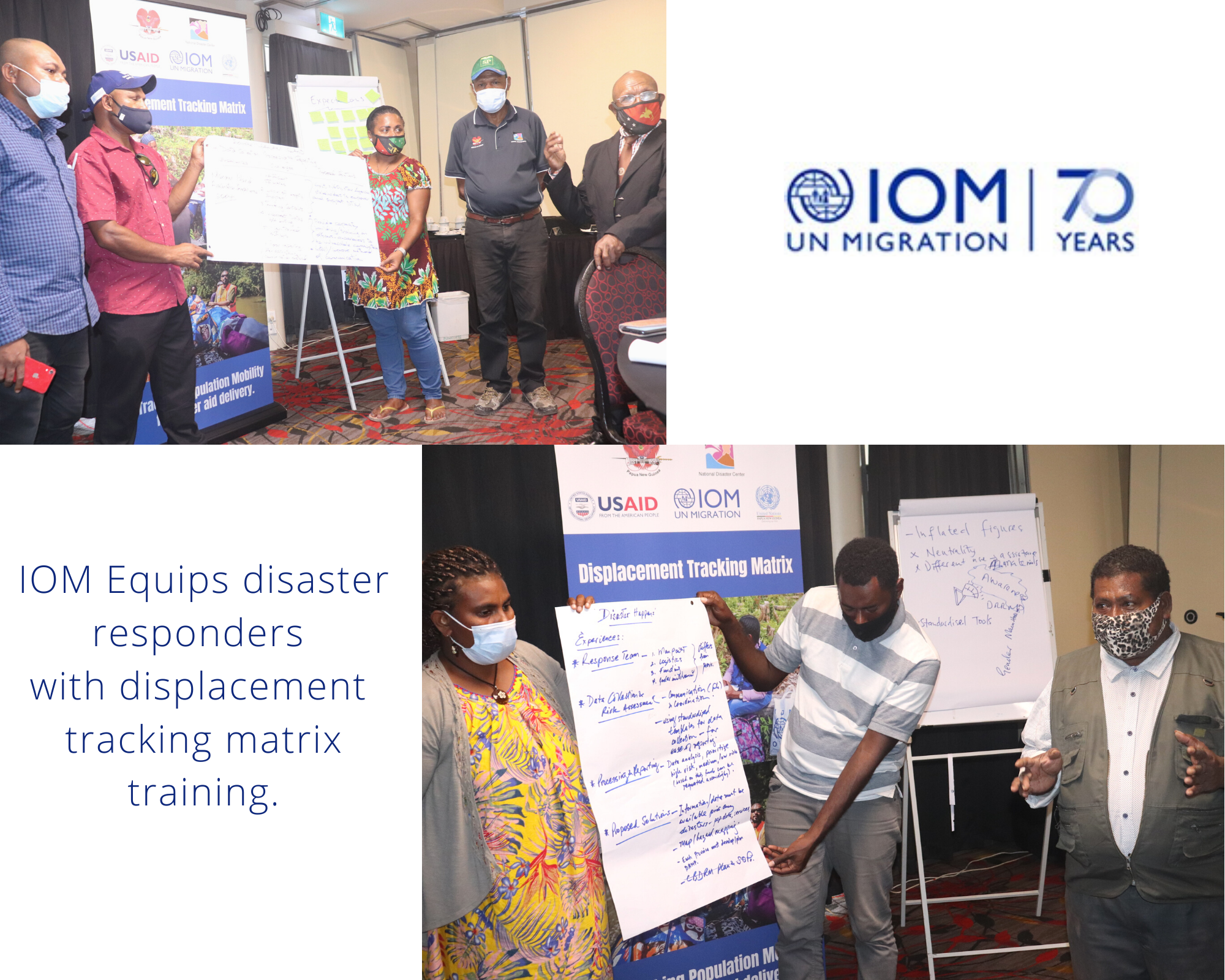 IOM Equips Disaster Responders with Displacement Tracking Matrix Training