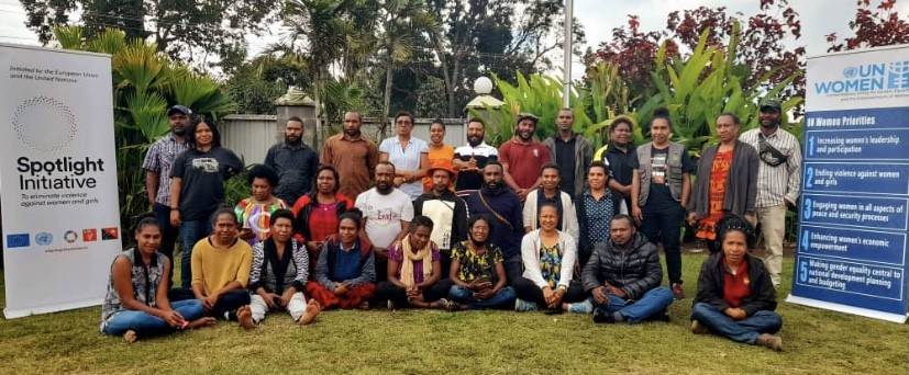 TOT participants in a group photo after the training in Goroka.