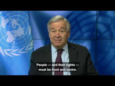 UN Secretary-General António Guterres' video message on COVID-19 and Human Rights